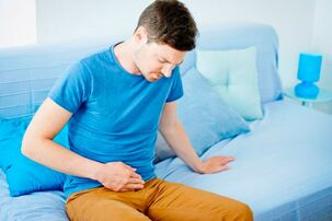 Aching pain in the lower abdomen is the first sign of impending prostatitis